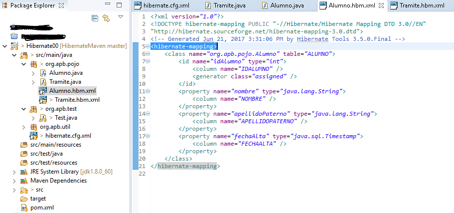 mapping file xml3